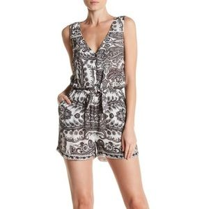 Lucky Brand tie front romper